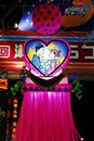 Lovers heart shaped decoration depicting two at the tanabata festival in hiratsuka japan tanabata or star festival celebrates the Royalty Free Stock Image