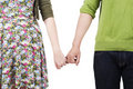 Lovers holding hands Royalty Free Stock Images