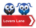 Lovers lane Stock Photo