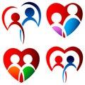 Lovers logo set Royalty Free Stock Photo