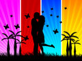 Lovers vector illustration Stock Photography