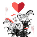 Lovers of zebras beautiful vector graphic pattern the Royalty Free Stock Photo