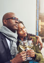 Loving African couple enjoy a tender moment Royalty Free Stock Photo