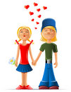 Loving boy and girl Royalty Free Stock Image