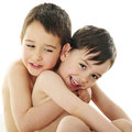 Loving Brothers Royalty Free Stock Photo