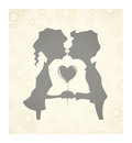 Loving children with heart Royalty Free Stock Photo