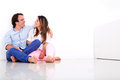 Loving couple at home Royalty Free Stock Photo