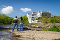 Loving couple in Irish scenery Stock Photography