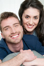 Loving couple smiling Stock Photo