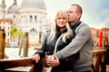 Loving couple in venice photo of Stock Images
