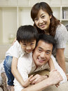 Loving family asian having fun at home Royalty Free Stock Image