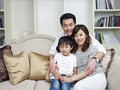 Loving family portrait of an asian Royalty Free Stock Photo