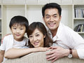 Loving family portrait of an asian Stock Photography