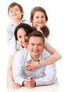 Loving family together Royalty Free Stock Photo