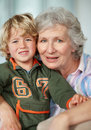 Loving grandmother with her grandson Royalty Free Stock Images