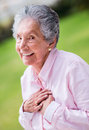 Loving grandmother portrait of a beautiful and smiling outdoors Royalty Free Stock Photos