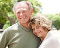Loving, handsome senior couple Stock Images