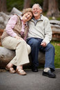 Loving mature couple enjoying in park Royalty Free Stock Images