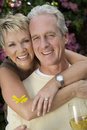 Loving Mature Couple Spending Time Together Stock Photos
