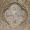 In Loving Memory Stock Photo