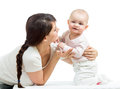 Loving mother with her baby girl Royalty Free Stock Photography