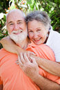 Loving Senior Couple Royalty Free Stock Photo