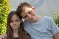 Loving siblings Royalty Free Stock Photo