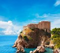 Lovrijenac fort in old city of dubrovnik Stock Photo