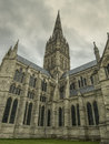Low angle shot the panoramic view from the catholic church england Royalty Free Stock Photography