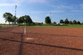 Low Angle Softball Field Royalty Free Stock Photo