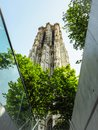 Low angle view of the ancient Saint Rumbold`s Cathedral in Mechelen