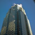Low angle view of an office building brookfield place toronto ontario canada Royalty Free Stock Photography