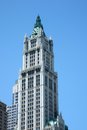 Low angle view of a woolworth building manhattan new york city state usa Royalty Free Stock Photo