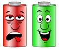 Low battery and full battery Royalty Free Stock Photo