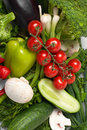 Low-calorie vegetables Royalty Free Stock Photo