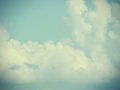 Low contrast clouds background toned and area for Royalty Free Stock Photo