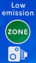 Low emission zone signal in London Royalty Free Stock Photo