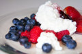 Low fat breakfast with berries Royalty Free Stock Images