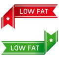Low fat food label Royalty Free Stock Photography