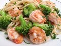 Low Fat Shrimp Dinner Stock Photo