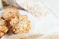 Low-fat whole-grain cookies Royalty Free Stock Photos