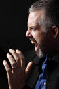 Angry Middle Aged Man Royalty Free Stock Photo