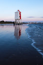 Low Lighthouse Burnham-on-sea Royalty Free Stock Images