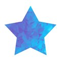 Low poly blue star