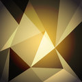 Low poly design element on gold gradient background