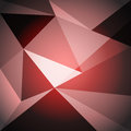 Low poly design element on red gradient background