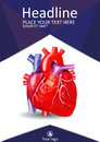 Low poly human heart book cover. Academic design. Vector.