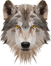 Low poly wolf's head