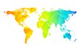 Low poly world earth map abstract background Royalty Free Stock Photo