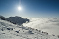 Low tatras jasna ski region in slovakia Royalty Free Stock Image